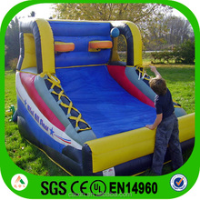 PVC (CE) inflatable basketball for outdoor games,hot sale jumping sports slide with basketball hoop on the top