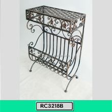 Free Standing Decorativa Metal Magazine Display Stand