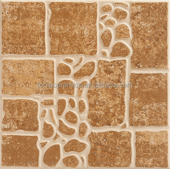 Tonia 300x300 rustic ceramic floor tile spanish pebble Spanish clay tile