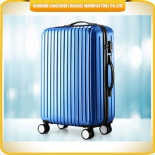 new brand ABS lightweight bright luggage travel bag, spinner luggage trolley