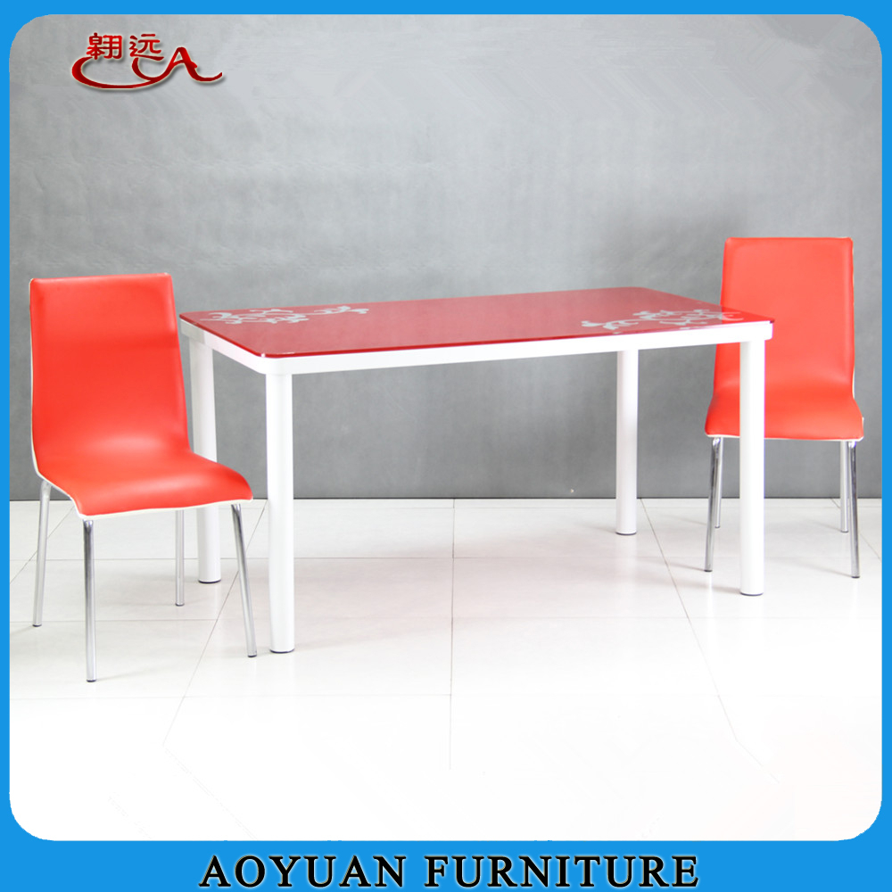 Buy Furniture From China Red Dining Set With Tables Chairs