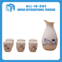 2015 High quality fantastic Chinese style porcelain lotus design gift wine and wine point