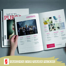 China full color cheap brochure printing/fancy softcover brochure printing