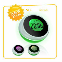 2015 factory supply mini lcd talking clock with alarm