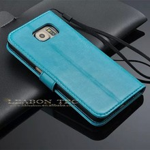 2015 new arrival wholesale Leather Cell Phone Case for Samsung Galaxy S6 G920