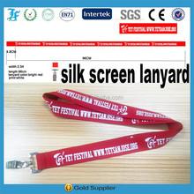 silk screen print mobile lanyard/heat transfer printing lanyard/mobile phone strap