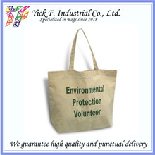 Natural Cotton Canvas Casual Shopping Tote bag