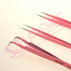 Colored Eyelash Stainless Tweezers For Eyelash Extensions