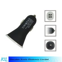 Rubber 2.1A dual usb car charger