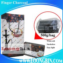 1.8 cm white ash stick bamboo shisha charcoal