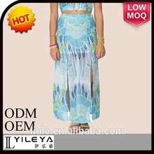 de diseño de verano corte estilo maxi falda larga para las mujeres