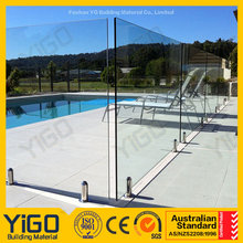 profile glass fence/frameless swimming pool glass fence