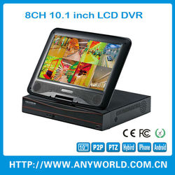 360 degree camera hd built-in 10.1inch lcd monitor dvr