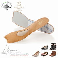 wooter proof genuine leather forefoot high heel for women latex support insoles