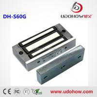 60KG/100lbs mini glass door magnetic lock for cabinet,locker,Tin box(DH-60G)
