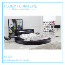 2015 HOT! Modern soft bed in fabric or leather, pu #A508