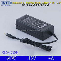 XED-Single Output Switching Power Adapter 15V 4A 60W for LED LCD CCTV Devices
