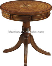 Classical Wooden Top Round Coffee Table / Tea Table / Center Table, Living Room Furniture, MOQ:1PC(B21352)