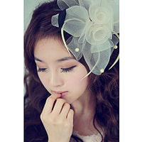 New Fashion European Fascinator Flower Mesh Hair Accessories For Women Wedding Bride Party Headwear 7429