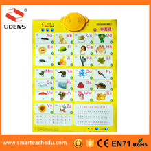 2015 New design vegetable and fruit educational sound charts
