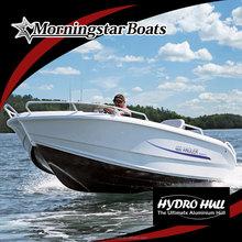 17ft aluminum racing motorboat