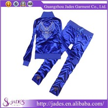 Guangzhou factory wholesale cheap women plus size jogging suits with hood
