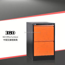 IGO-001-2D Good Quality Office Furniture industrial handle drawers metal storage cabinet locking
