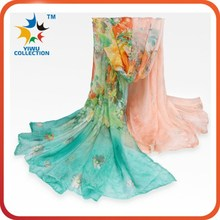 MOQ 100PCS digital print custom design manufacturing 100% wholesale china scarf silk scarf