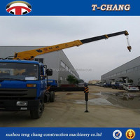 hot sale 5 tons swing telescopic boom small crane for truck with winch cable