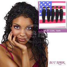 accept paypal wholesale price AAAAA indian vergin deep curl human hairs