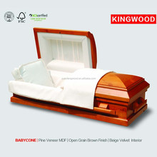 BABYCONE#45 pet casket accessories wholesale china funeral wood coffin