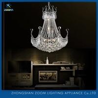 2015 hot sale middle size splendid K9 crystal used chandelier lighting for banquet hall decoration