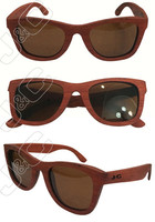 2015 eco-friendly and high quality night vision bamboo sunglass with bamboo case and polarized lens
