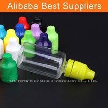 Plastic e liquid bottle and e cigarettes for e-smoking oils
