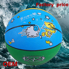 2015 new design and cool factory price rubber basketball color