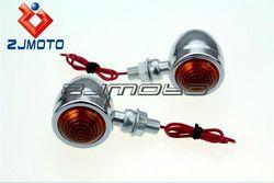 Universal Motorcycle Turn Signal Lights Bulb Fits For Choppers Classic Honda Yamaha Kawasaki Suzuki--Street Genius