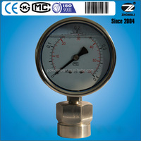 "4"" Y-100 diaphragm pressure gauge measuring device stainless steel case manometer CE certificate"