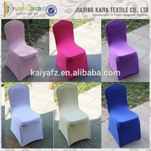 China made colored decorative wedding chair covers overlay