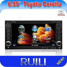 Toyota old corolla double din car auto radio dvd player with digital touch screen
