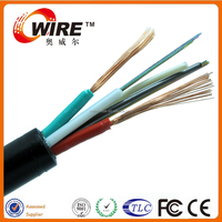 Optical Power Composite Cable GYTS fiber cable+RVV VV power cable