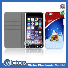 Shockproof Santa Magnetic Flip Cover Phone Case For iPhone 6 Plus