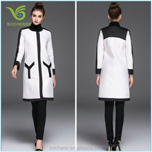 The latest lady winter coat back slit wool woman 2015