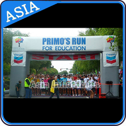 20' Square Inflatable Arch In White Color With Logo For Race