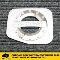 Chrome fuel tank cover cap for TOYOTA FORTUNER 2012 champ chromed car accessories