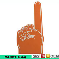 Melors OEM Big Hand for Sports Cheering hand handball sports giant cheering EVA/sponge promotional foam hand/soccer fan eva hand