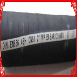 Hydraulic Rubber Hose DIN/SAE Steel Wire Braided 4 SP