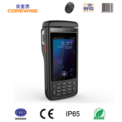 Android handheld Terminal 4G wifi pos machine/smart card reader/Fingerprint Sensor/thermal printer