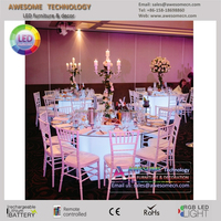 Clear tempered glass top led glow acrylic banquet table (cb800)