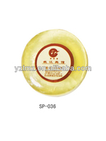 Mini round transparent soap with preservative film wrap for high grade hotel