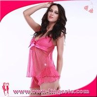 girls transparent lingerie nude sleepwear babydoll, open hot sexual transparent plastic lingerie